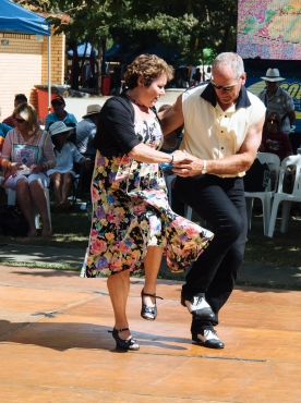 Swing Dancers showing the crowd how it's done