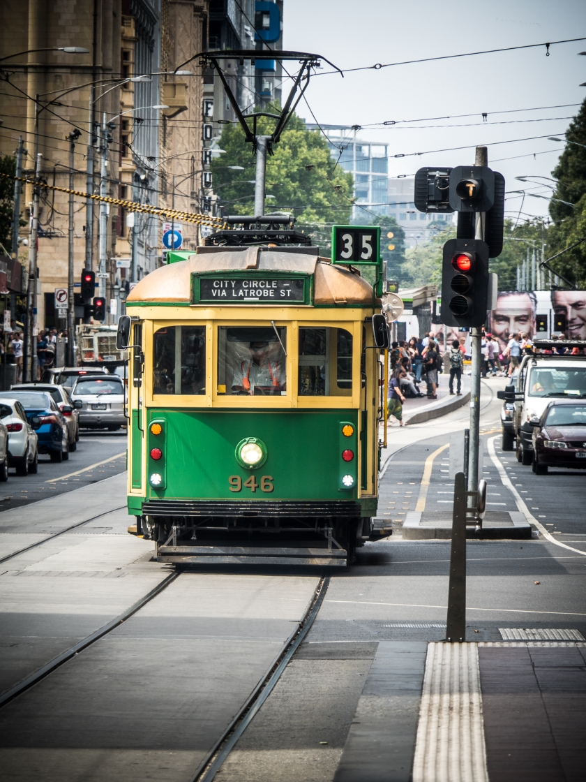 One of the old style trams