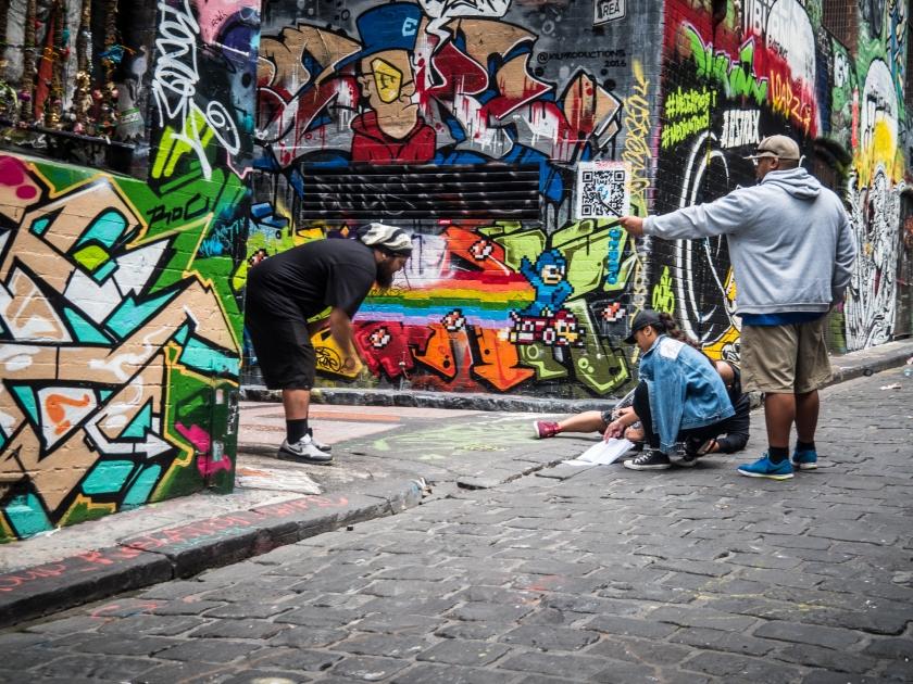 Video production in Hosier Lane